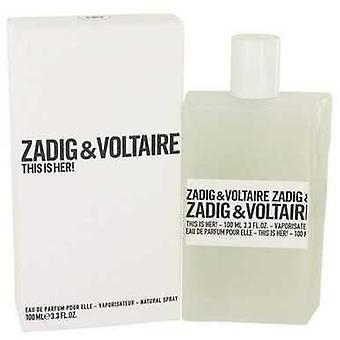 This Is Her By Zadig & Voltaire Eau De Parfum Spray 3.4 Oz (women) V728-536497
