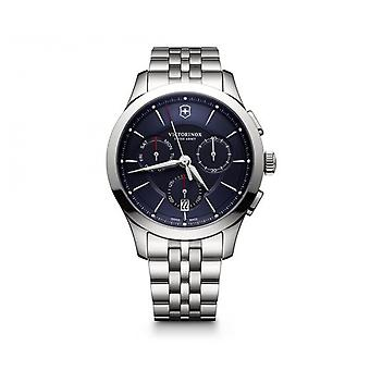 Victorinox Watch 241746 - Alliance Chronograph/ Steel Silver Silver Blue Dial Heren