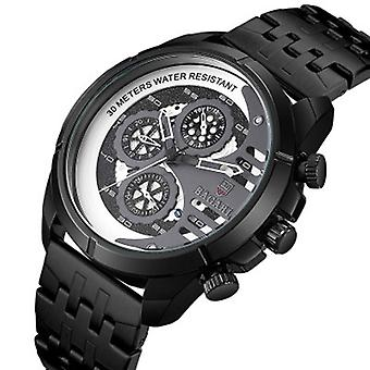 BAGARI 1822G All Dial Work Military Style Stainless Steel Strap Luminous