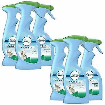 6 x 375ml Febreze Fabric Multipurpose Home Frangrance Spray