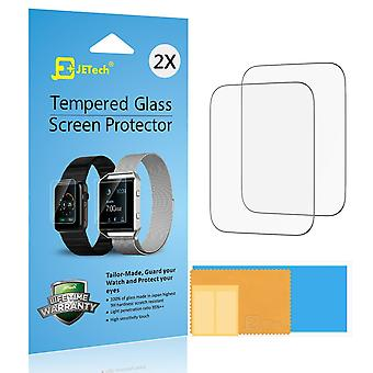 Jetech screen protector for apple watch 42mm series 1 2 3 tempered glass, 2-pack