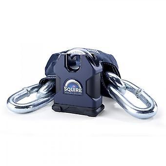 Squire Juggernaut Extra Heavy Duty Motorcycle Chain Lock 14mm x 1 2m
