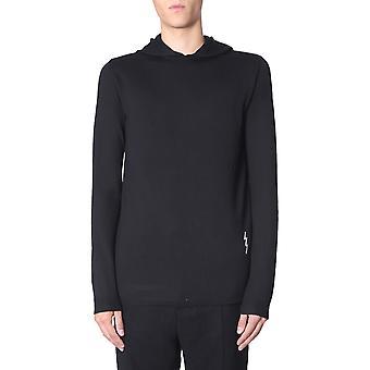 Rick Owens Rr19f4686m0921 Men's Black Wool Sweater