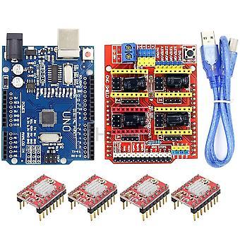 Cnc Shield Genişletme Kartı -v3.0+uno R3 Usb For Arduino