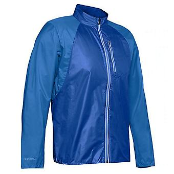 Under Armour Mens Run Impasse Wind Jacket Anorak Blue 1350941 464