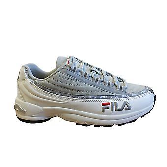 Fila DSTR97 S Mens المدربين الأبيض رمادي جلد الغزال الجلود الدانتيل حتى الأحذية 1010712 01Z