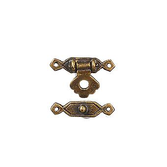 Dolls House Trunk Lock Antique Brass  Miniature 1:12 Door Furniture
