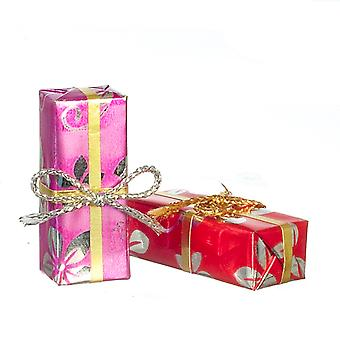 Dolls House Floral Wrapped Gifts Christmas Birthday Presents Shop Accessory Med
