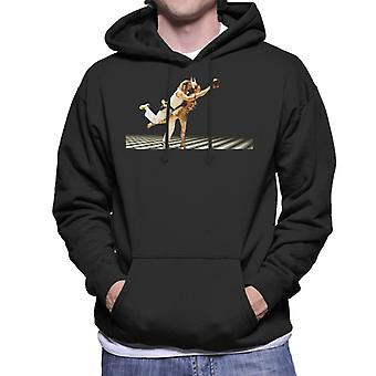 The Big Lebowski The Dude And Maude Bowling Dream Sequence Men's Hooded Sweatshirt