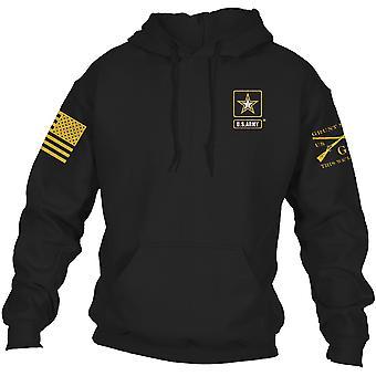 Grunt Style Army - Täydellinen peruslogo Pullover Huppari - Musta