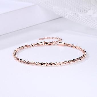Glatte Exquisite trendige Spiralwelle Twisted Grain Armband
