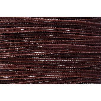 """100 X mørkebrune chenille stængler håndværk rørrensere - størrelse 6"""" / 15cm længde"""