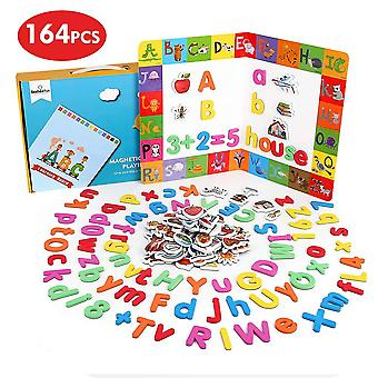 Beebeerun 164 db mágneses betűk és számok gyerekeknek,oktatási játékok 3 évesek fiúk gi
