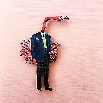 Flamingo Man Magnet