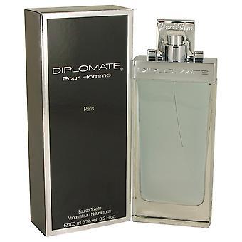 Diplomate Pour Homme by Paris Bleu Eau De Toilette Spray 3.3 oz / 100 ml (Men)