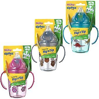 Nuby tritan flip n sip all 3 supplied