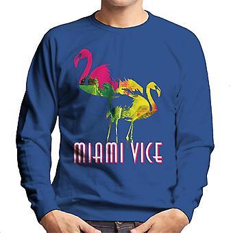 Miami Vice Flamingo Silhouette Men's Sweatshirt