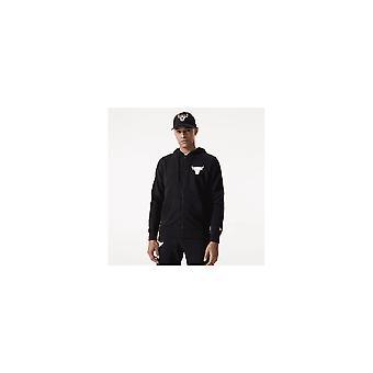 New Era Nba Chicago Bulls Fade Logo Black Full Zip Hood