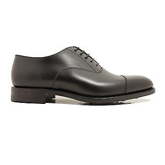 Loake Aldwych G-Width Negro Becerro Cuero Para Hombre Oxford Encaje Hasta Zapatos