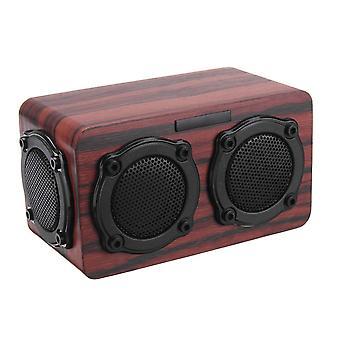 Kingneed S403 بلوتوث لاسلكية خشبية 2 المتكلم 2 باس غشاء 2x3W المتكلم