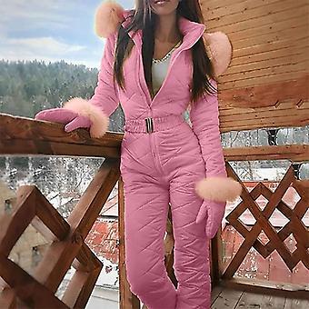 Mono de esquí de moda de una pieza para mujer
