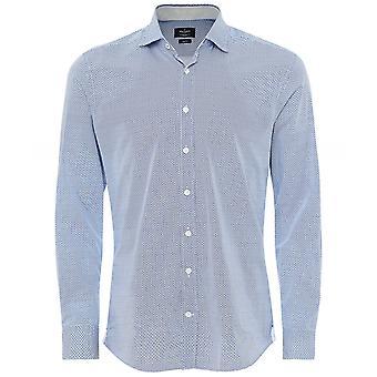 Hackett Slim Fit H Print Skjorta