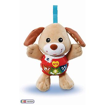 Vtech 502303 little singing puppy educational baby, clip on cot, pushchair and pram, soothing soft i