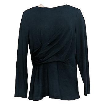 DG2 by Diane Gilman Women's Top Asymmetric Drape-Waist Top Blue 728-209