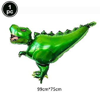 Standing Green Dinosaur Foil Balloons, Birthday Decoration, Party  Banner,