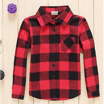 Children Long Sleeved Classic Red Shirts