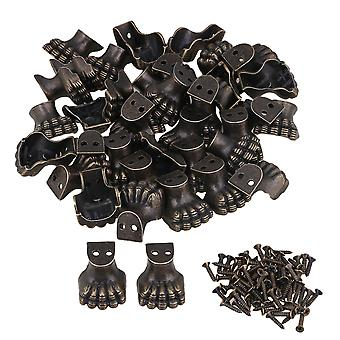 100pcs Antique Corner Protector for Wooden Jewelry Box Elephant Foot Type