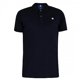 G-Star Dunda Slim Fit Polo T-Shirt Navy Blue D11595