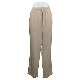 Koolaburra By UGG Women's Pants Vintage Wash French Terry Beige A386474