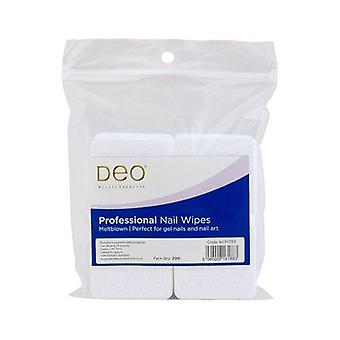DEO Disposable Nail Wipes - Melt Blown - Biodegradable & Lint Free - Pack of 200