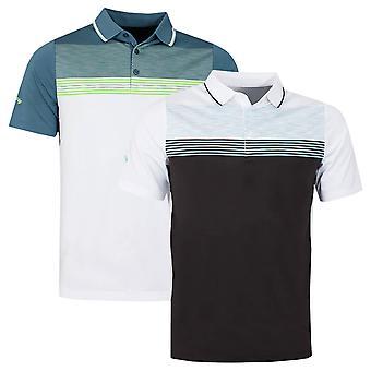 Callaway Golf Mens 2021 Micro Geo Jacquard Opti-Dri Wicking Golf Polo Shirt