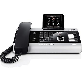 FengChun DX800A ISDN-/DECT Schnurtelefon - Anrufbeantworter - groes Display, titanium