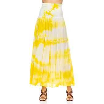 Maxi skirt with Tie-dye effect and elastic waist