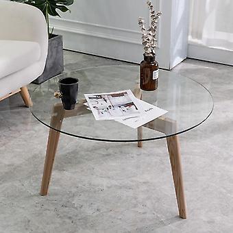 Luova peili pyöreä pöytä karkaistu lasi