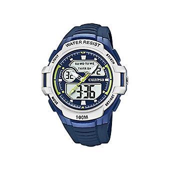 Calypso kellot analoginen-digitaalinen katsella kvartsi mies muovihihna K5770/3
