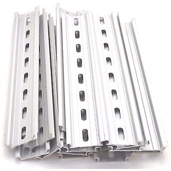6pcs Din Rail Mounting Slotted Aluminum Rohs Mounting Rail For Breaker Or Relay 35mm Wide, 7.5mm High, 200mm Long