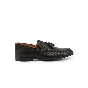 Duca di Morrone - Shoes - Moccasins - 012-PELLE-NERO - Men - Schwartz - EU 43