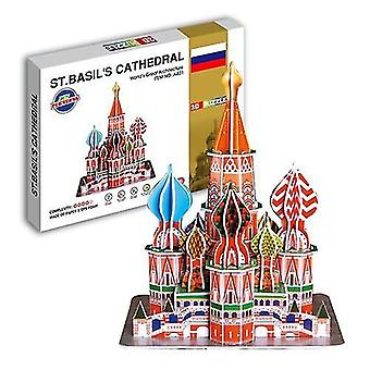 Educational 3d model puzzle jigsaw vasilli cathedral diy toy dt43