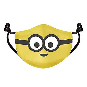 Minions - Novelty Face Adjustable Shaped Facemask - Yellow