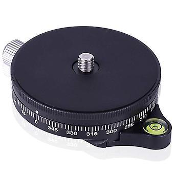 Camera Pan Base With Arca Swiss Style Plate, Aluminum Panoramic Ball Tripod