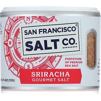 San Francisco Salt Co Salt Sea Sracha, kotelo 6 X 4 Oz