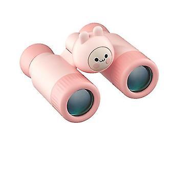 Lapset Kiikarit Teleskooppi£, Yhden ja kahden putken irrotettava hd tarkennus (vaaleanpunainen)