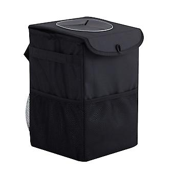 Car Trash Can With Lid,leak-proof , Waterproof Car Garbage Can