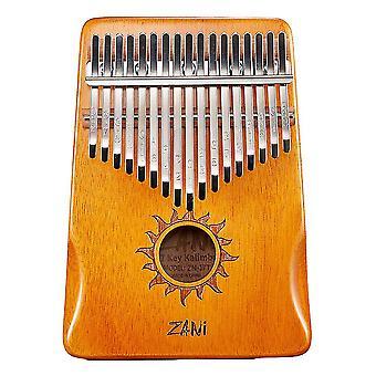 Kalimba Thumb Piano 17 Teclas Instrumento Musical Portátil para Crianças Laranja