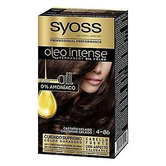 Permanent Dye Olio Intense Syoss Nº 4,86 Frozen Chestnut