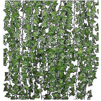 12/24 Säikeet keinotekoinen Ivy Leaf Plants Vine , Home Kitchen Garden Office Wedding Wall Sisustus,
